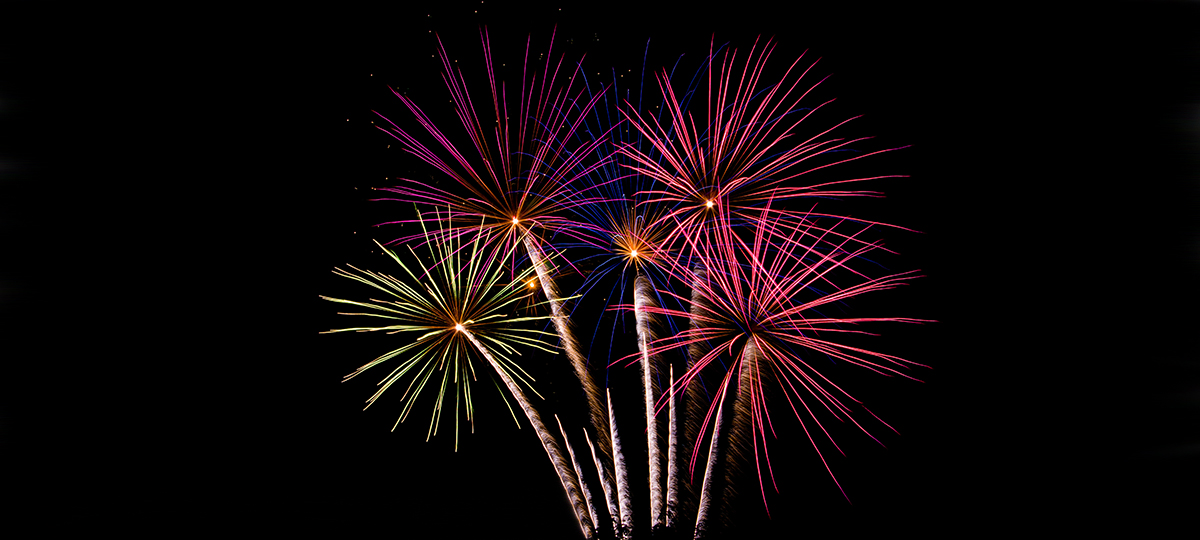 multi color finale fireworks
