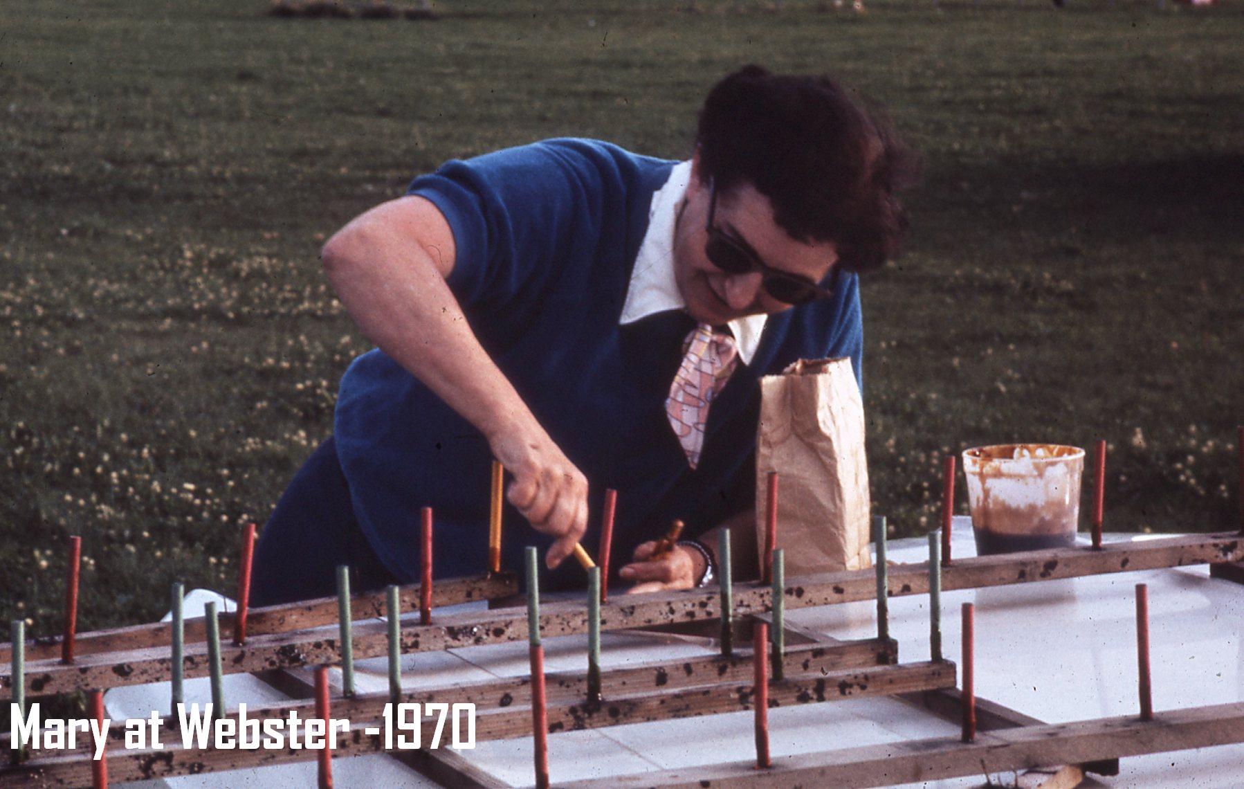 woman assembling fireworks 1970
